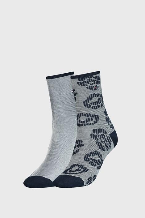 2 PACK dámskych modrých ponožiek Tommy Hilfiger Flower