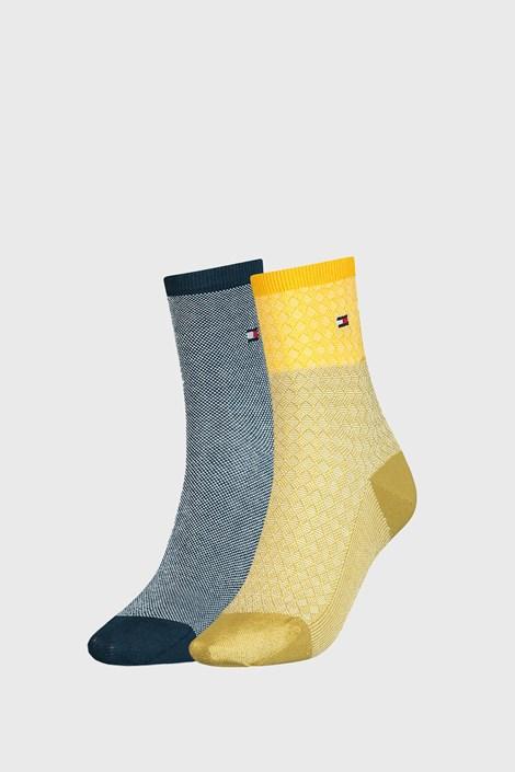 2 PACK dámskych ponožiek Tommy Hilfiger Argyle
