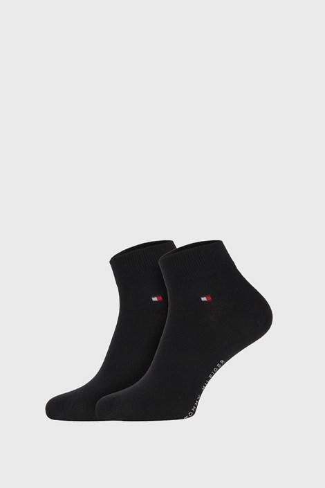 2 PACK čierny ponožiek Tommy Hilfiger Quarter