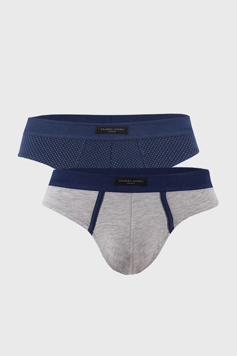 2 PACK modro-sivých slipov