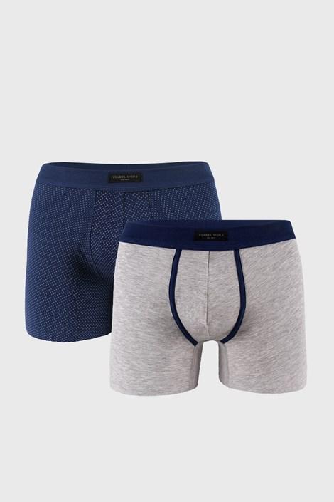 2 PACK modro-sivých boxeriek