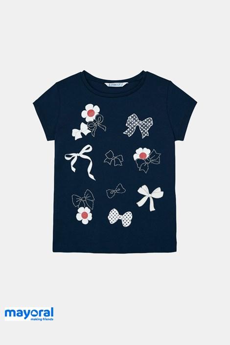 Dievčenské tričko Mayoral s mašličkami