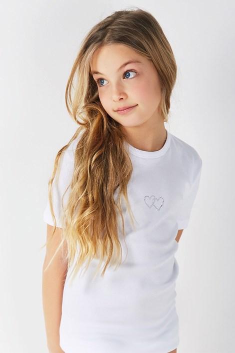 Dievčenské bavlnené tričko Lea