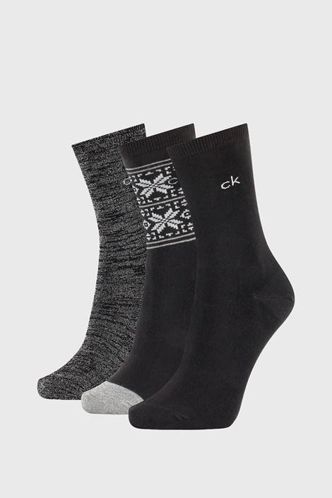 3 PACK dámskych ponožiek Calvin Klein Isla