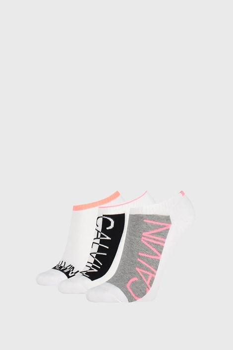 3 PACK dámskych ponožiek Calvin Klein Nola biele