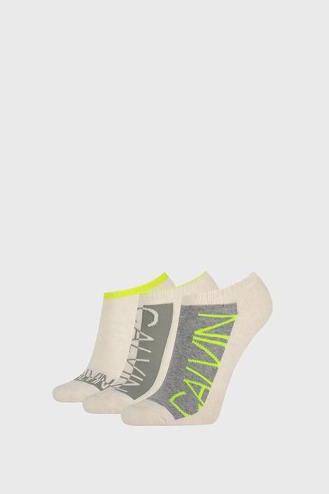 3 PACK dámskych ponožiek Calvin Klein Nola béžové