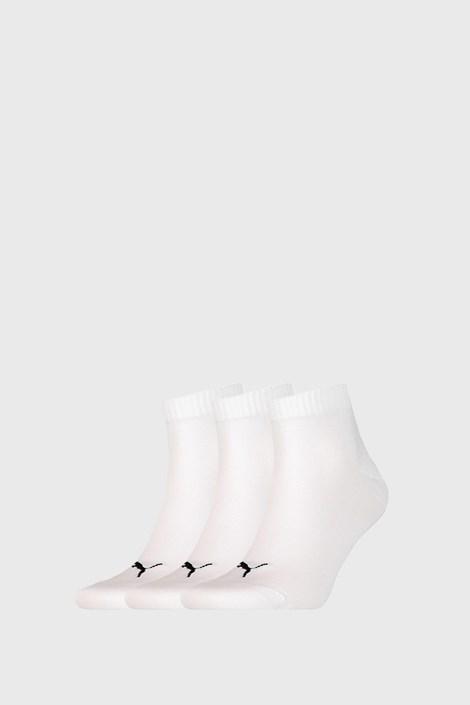 3 PACK bielych ponožiek Puma Quarter Plain