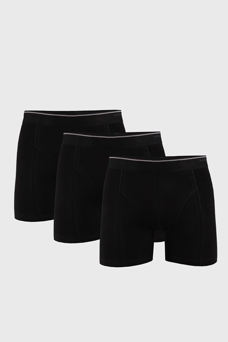 3 PACK čiernych boxeriek Tender Cotton