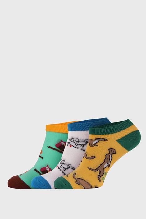 3 PACK nízkych ponožiek Bellinda Crazy Animals
