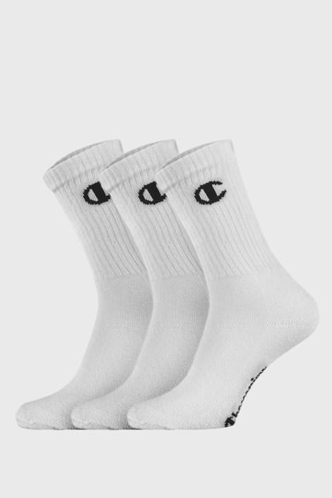 3 pack vysokých bielych ponožiek Champion