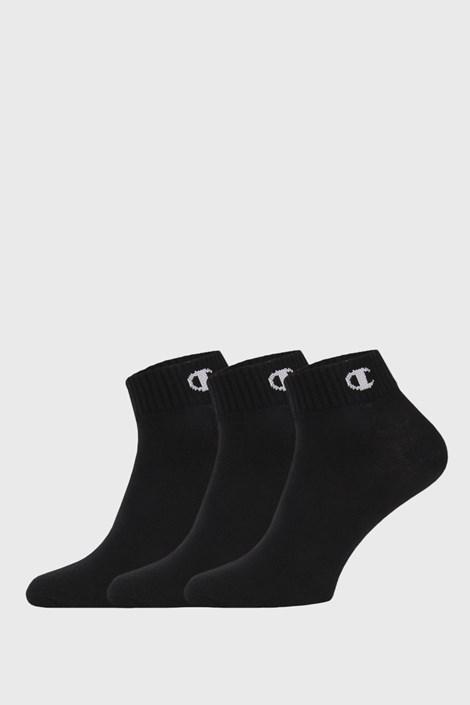 3 PACK členkových čiernych ponožiek Champion