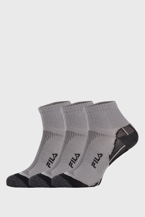 3 PACK sivých ponožiek FILA Multisport