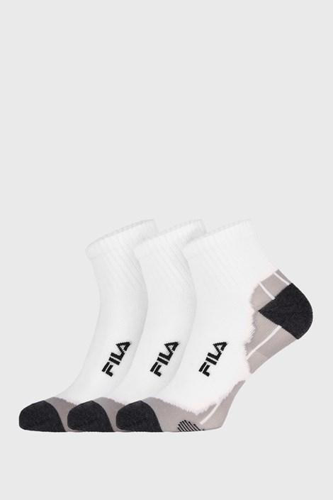 3 PACK bielych ponožiek FILA Multisport