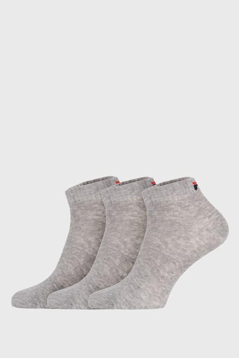 3 pack sivých nízkych ponožiek FILA