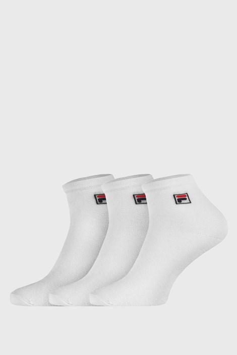3 pack bielych členkových ponožiek FILA