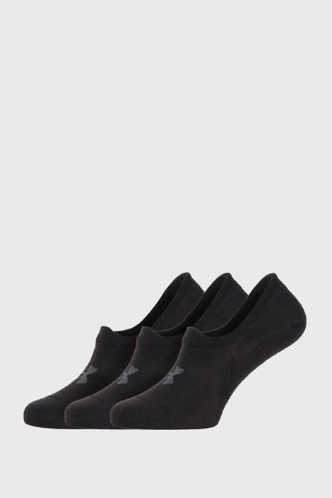 3 PACK čiernych nízkych ponožiek Under Armour