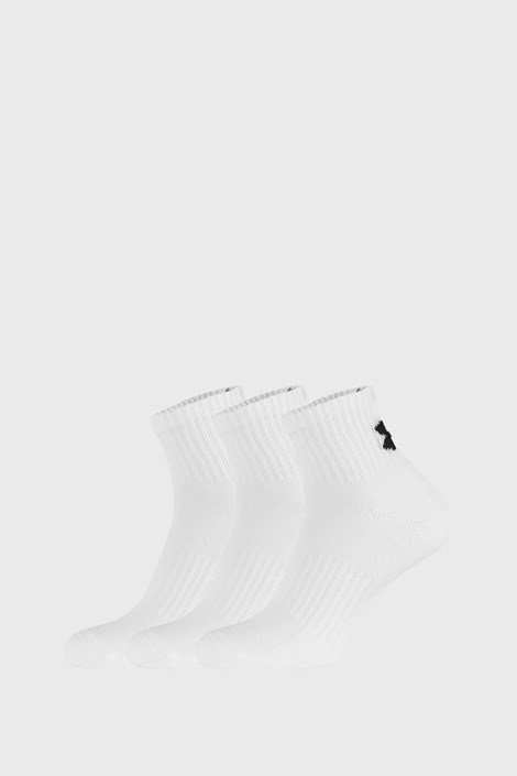 3 PACK bielych ponožiek Core Under Armour