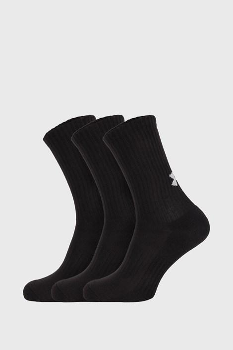 3 PACK vysokých čiernych ponožiek Core Under Armour