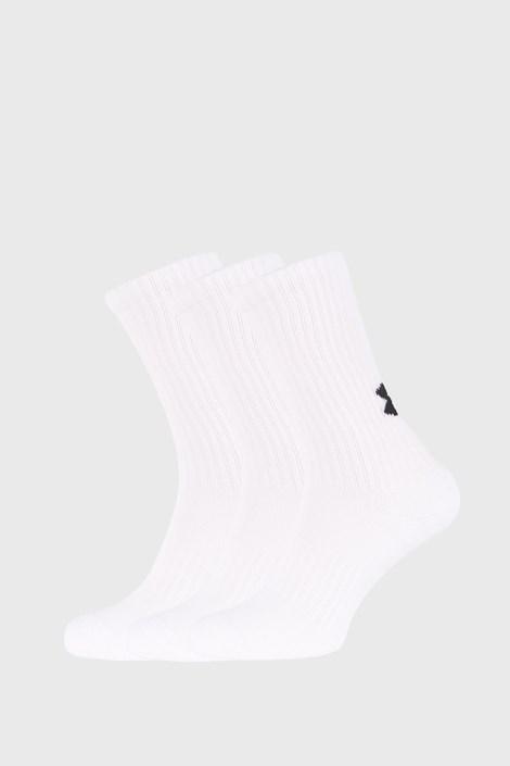 3 PACK vysokých bielych ponožiek Core Under Armour