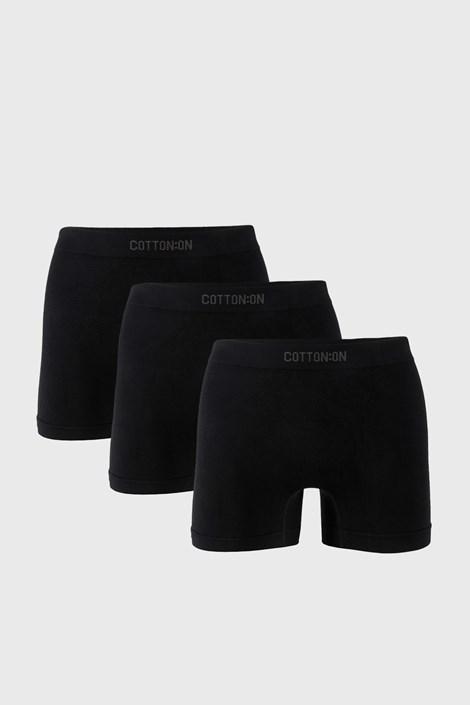 3 PACK čiernych boxeriek Trunk