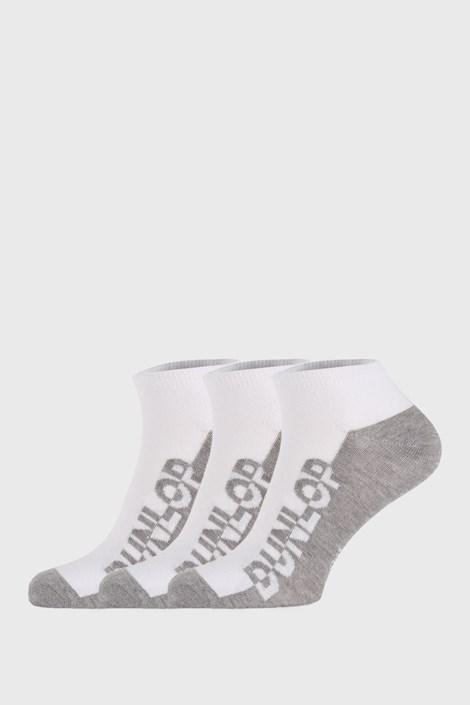 3 PACK bielych ponožiek Dunlop