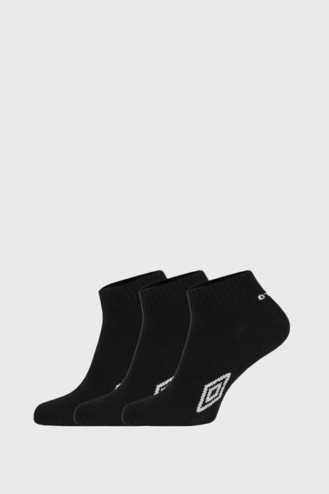3 PACK členkových čiernych ponožiek Umbro