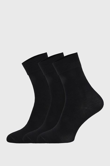 3 PACK čiernych športových ponožiek