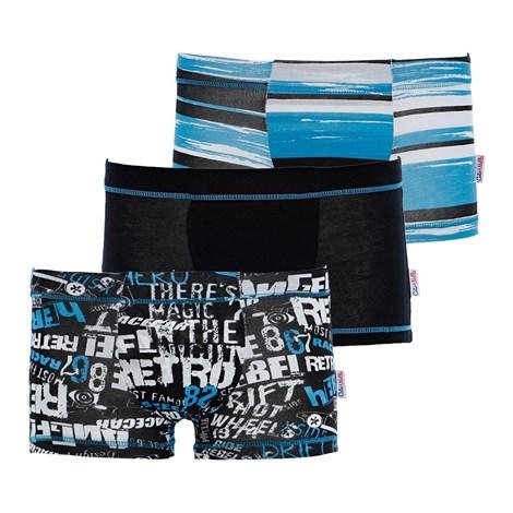3 pack chlapčenských boxeriek Blue