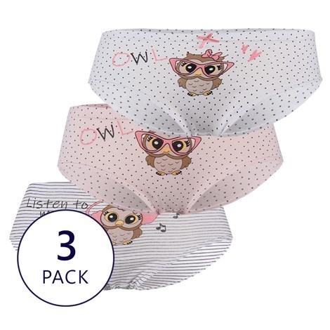 3 PACK dievčenských nohavičiek Owl