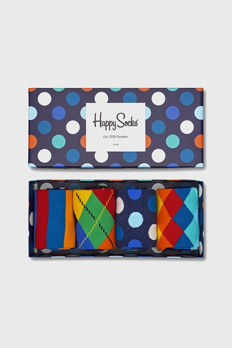 4 PACK ponožiek Happy Socks Multicolor