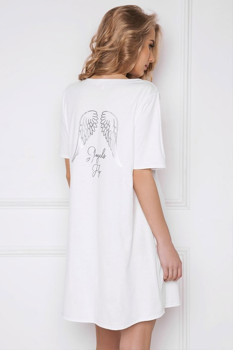 Dámska nočná košeľa Angel biela