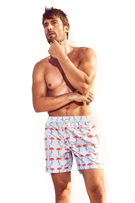 Pánske plavkové šortky DAVID 52 Flamingo Caicco