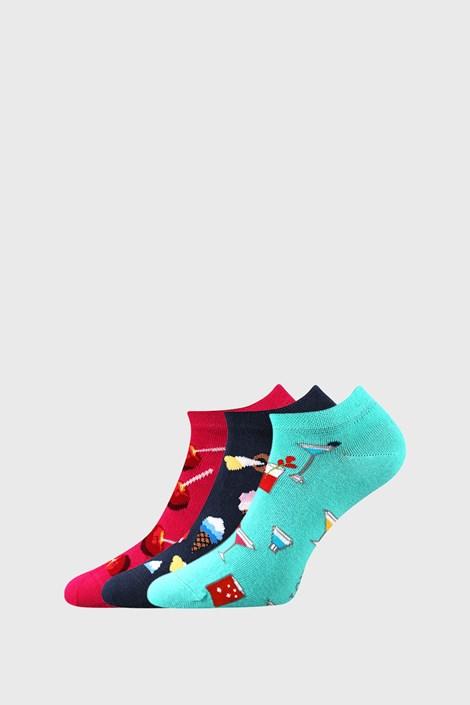 3 PACK dámskych ponožiek so sladkosťami