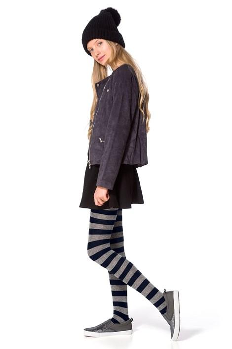 Dievčenské bavlnené pančuchy Delycy modré