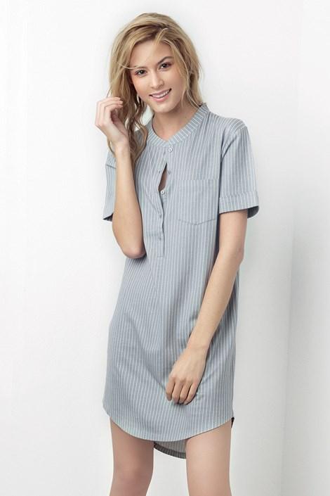 4d35219928a6 Dámska nočná košeľa Simone sivá. ‹ ›
