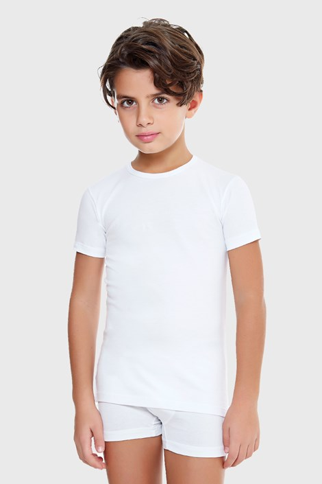 Chlapčenské tričko E. Coveri basic biele