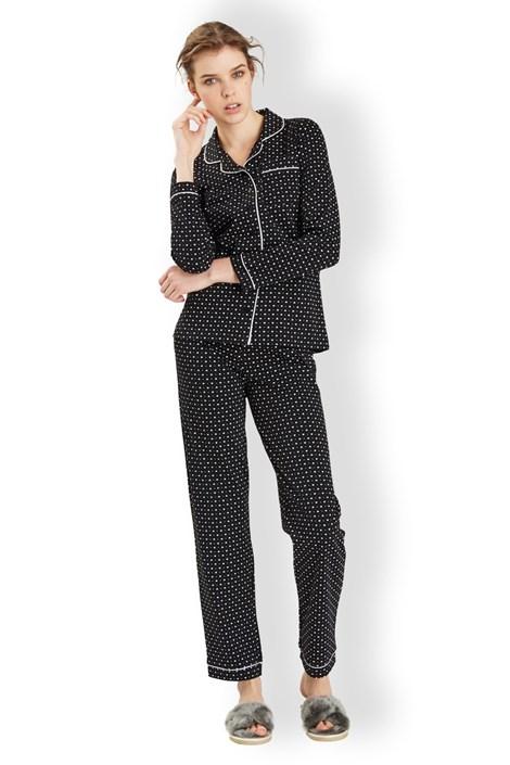 Dámske talianské pyžamo Hearts black
