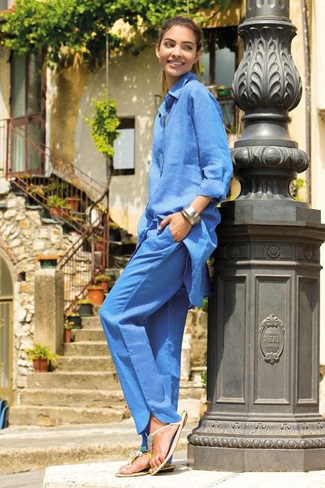1a0612f439db Dámske ľanové nohavice Sherie Blue z kolekcie Iconique