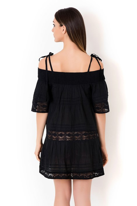 297333e988 Dámske talianske plážové šaty Iconique IC800 Black