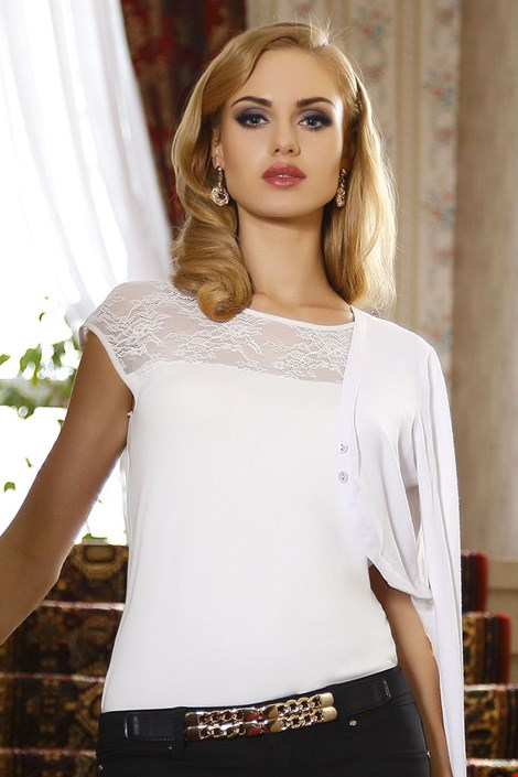 2998b18b7195 Dámske elegantné čipkové tričko Paulina