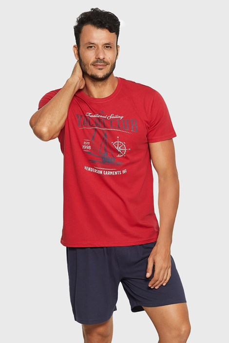 Červeno-modré pyžamo Relax