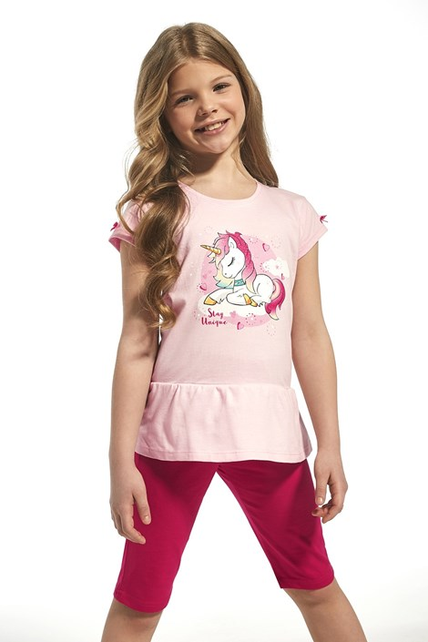 Dievčenské bavlnené pyžamo Unique