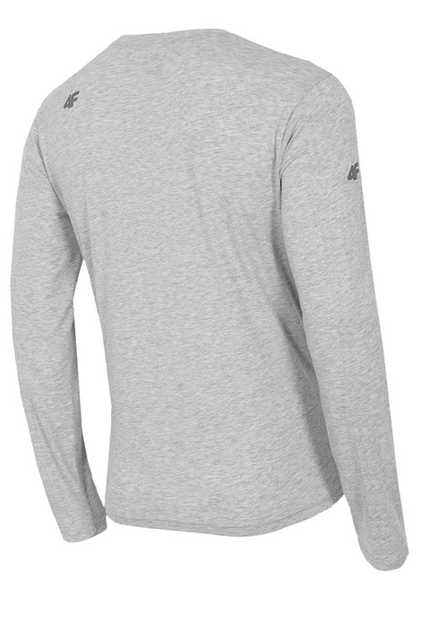 5d8f1a4a35eb Pánske bavlnené tričko s dlhým rukávom Melange. ‹ ›