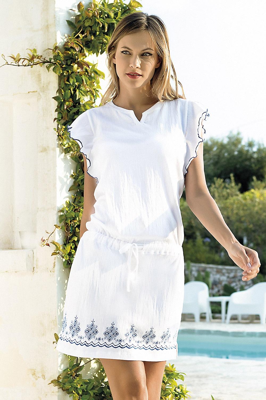 319cf970cf0b Dámske letné šaty Santorini biele