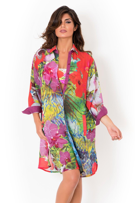 ea257367ea5f Dámske talianske plážové košeľové šaty David Mare