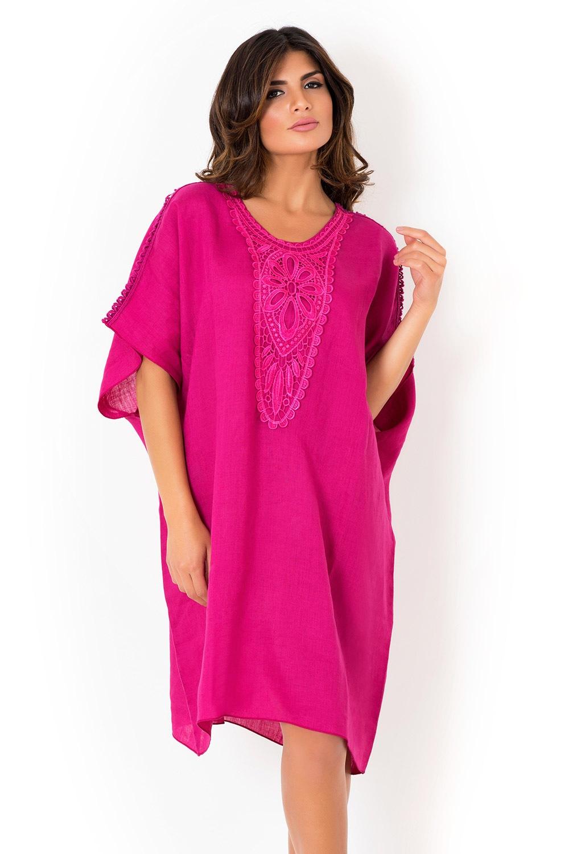 22919e7ec Dámske ľanové plážové šaty David Beachwear Fuksia | Astratex.sk