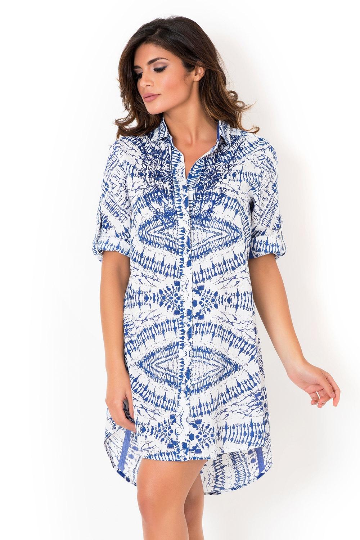 8be38eafb7ad Dámske talianske košeľové šaty David Beachwear Graphic II.