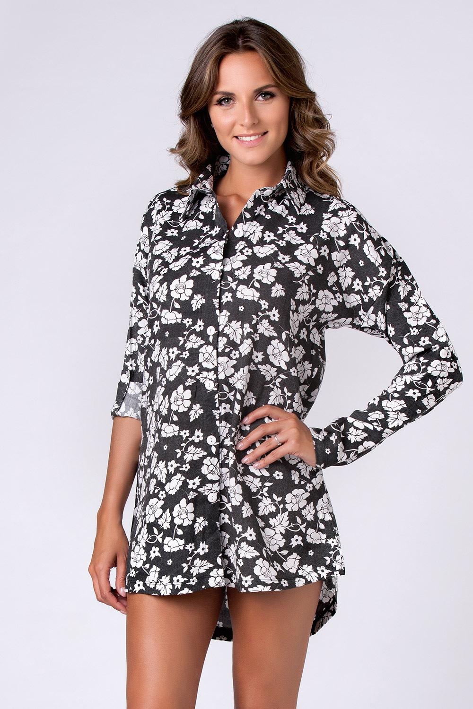 df9331500f23 Dámska rozopínajúca nočná košeľa Jersey