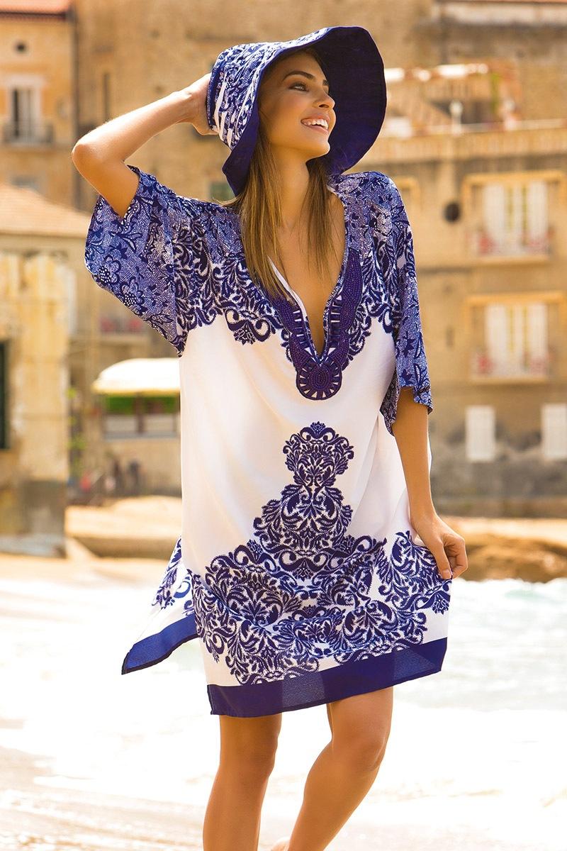 f34646ec8d61 Dámske letné plážové šaty Irene