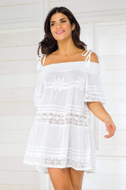6e388d74d8 Dámske talianske plážové šaty Iconique IC800 White